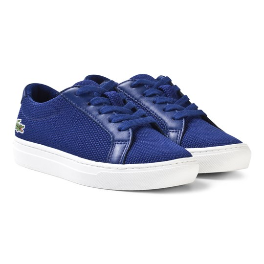 Lacoste L.12.12 Texturized Piqué Canvas Sneakers Blå Blue/White