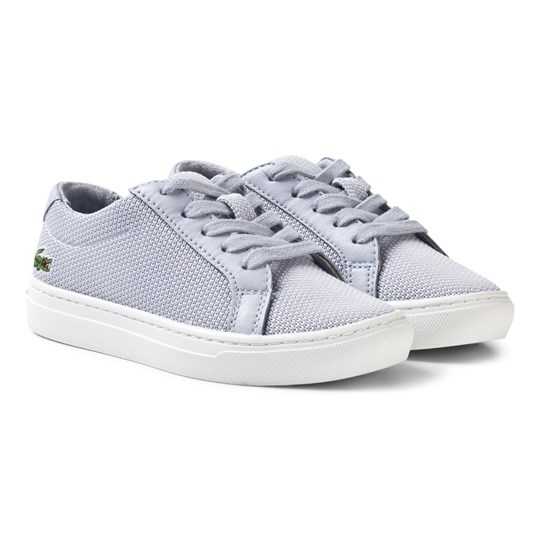 Lacoste L.12.12 Texturized Piqué Canvas Sneakers Grey Grey/White