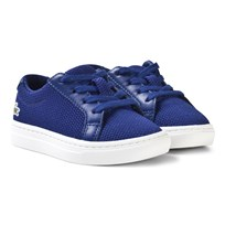 Lacoste L.12.12 Texturized Piqué Canvas Infant Sneakers Blue Blue/White