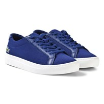 Lacoste L.12.12 Texturized Piqué Canvas Sneakers Blue Blue/White
