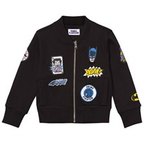 Fabric Flavours Batman Patch Bomber Jacket Black