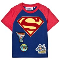 Fabric Flavours Superman Chenile Logo Badge Tee BLUE & RED