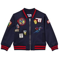 Fabric Flavours Marvel Patch Bomber Jacket Blue