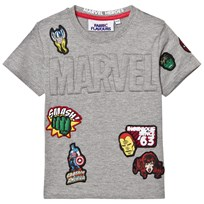Fabric Flavours Marvel Embossed Badge Tee Black