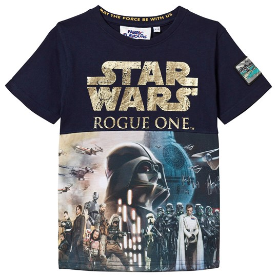 Fabric Flavours Rouge One Foil Poster Print T-shirt Marinblå Navy