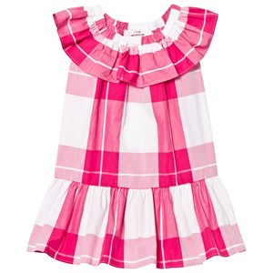 Image of Il Gufo Fuchsia Frill Drop Waist Dress 2 years (2743727549)