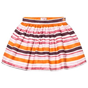 Image of Il Gufo Orange and Pink Stripe Skirt 12 years (2743782717)
