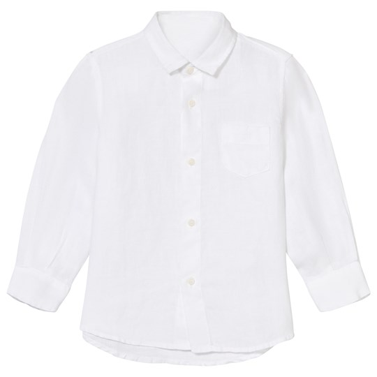 Il Gufo White Long Sleeve Linen Shirt 010
