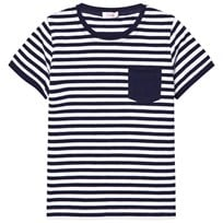 Il Gufo Navy Stripe Pocket Tee 495