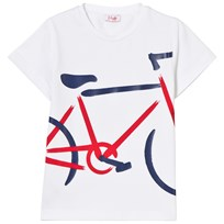 Il Gufo White Bicycle Print Tee 0137