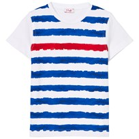 Il Gufo White, Blue Red Stripe Tee 0137