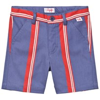 Il Gufo Red and Blue Stripe Shorts 477