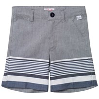 Il Gufo Navy and Grey Stripe Shorts 495