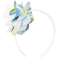 Il Gufo Blue Green Flower Headband 418