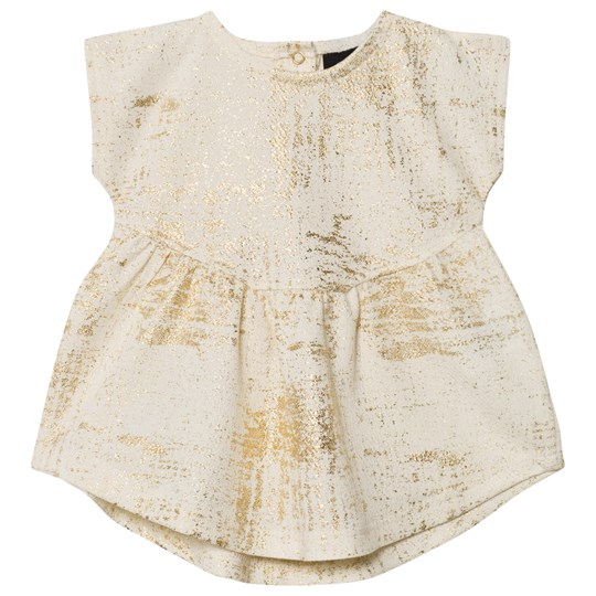 Petit by Sofie Schnoor Dress Off-White Gold Off-white/gold