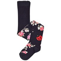 Dolce & Gabbana Navy Floral and Ladybird Tights S8356