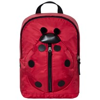 Dolce & Gabbana Red Ladybird Leather and Nylon Backpack 89879