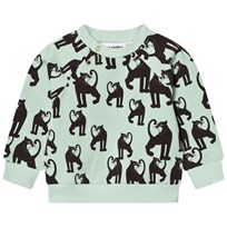 Mini Rodini Panther Sweatshirt Light Green Green