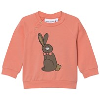 Mini Rodini Rabbit Long Sleeve Tee Pink Pink
