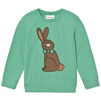 Mini Rodini Rabbit Long Sleeve Tee Green Green