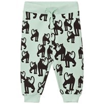 Mini Rodini Panther Sweatpants Light Green Green