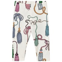 Mini Rodini Tassels Leggings Off White White