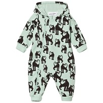 Mini Rodini Panther Onesie Light Green Green