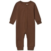 Mini Rodini Rib Onesie Brown BROWN