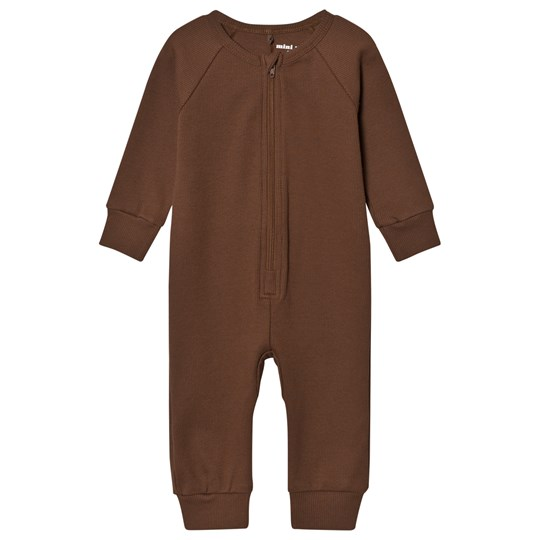 Mini Rodini Ribbstickad Onesie Brun BROWN