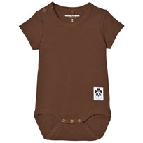 Mini Rodini Ribbstickad Baby Body Brun BROWN