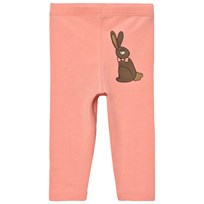 Mini Rodini Rabbit Leggings Pink Pink