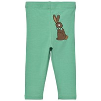 Mini Rodini Rabbit Leggings Green Green