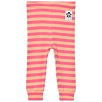 Mini Rodini Stripe Rib Leggings Pink Pink