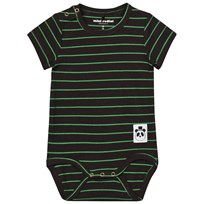Mini Rodini Stripe Rib Baby Body Black Black