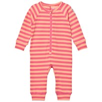 Mini Rodini Stripe Rib One-Piece Pink Pink