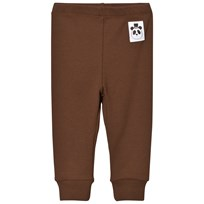 Mini Rodini Rib Leggings Brown BROWN