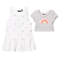 IKKS Grey Rainbow 2 in 1 with White Glitter Printed Vest 20