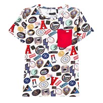 IKKS White Multi Badge Print Tee 01