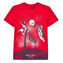 IKKS Red Spaceman Glow in the Dark Prink Tee 36