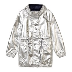 IKKS Silver Coated Mac with Concealed Hood