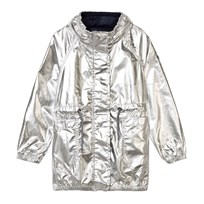 IKKS Silver Coated Mac with Concealed Hood 17