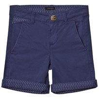 IKKS Blue Short with Patterned Turn Up 42