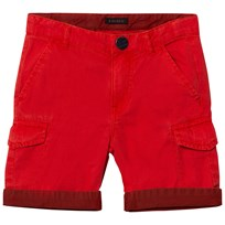 IKKS Red Cargo Shorts with Patterned Turn Up 77