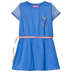 Le Big Blue Jersey and Mesh Dress