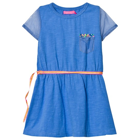 Le Big Blue Jersey and Mesh Dress 622