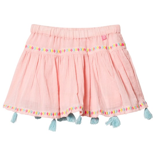 Le Big Blush Pink Embroidered and Tasselled Effy Skirt 402