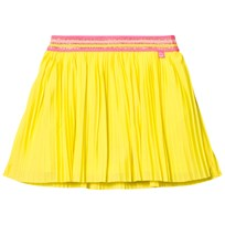 Le Big Yellow Pleated Ebony Skirt with Lurex Waistband 251