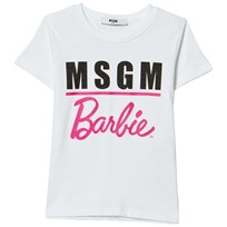 MSGM White Logo Barbie Tee 001