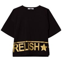 Relish Black Branded Cropped Tee 1000