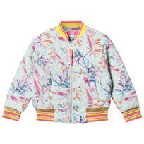 Le Big Aqua Palm Print Eliora Bomber Jacket 608